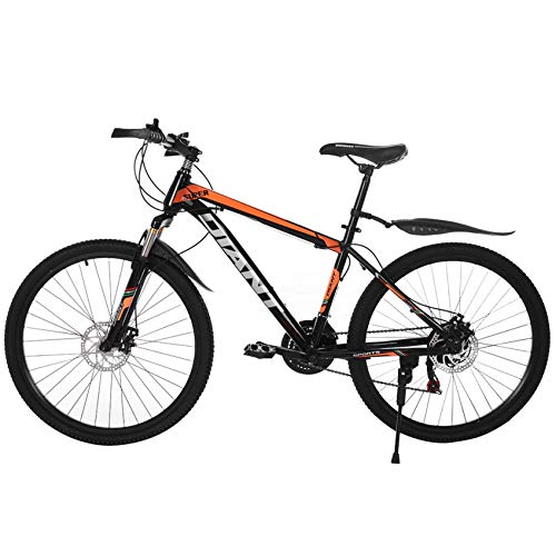 freafre 26in Bicycle 21 Speed Carbon Steel Mountain Bike Full Suspension MTB