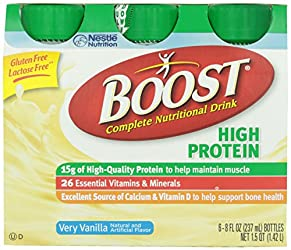 Boost High Protein Complete Nutritional Drink Vanilla Ready To Drink, 8 Fl Oz (Pack of 6)