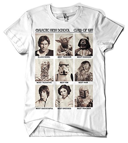 017-Camiseta Blanca Galactic High School - XL