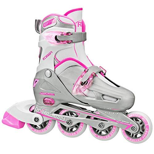 Roller Derby Cobra Girl's Adjustable Inline Skates, Medium (2-5), 2018 Pink