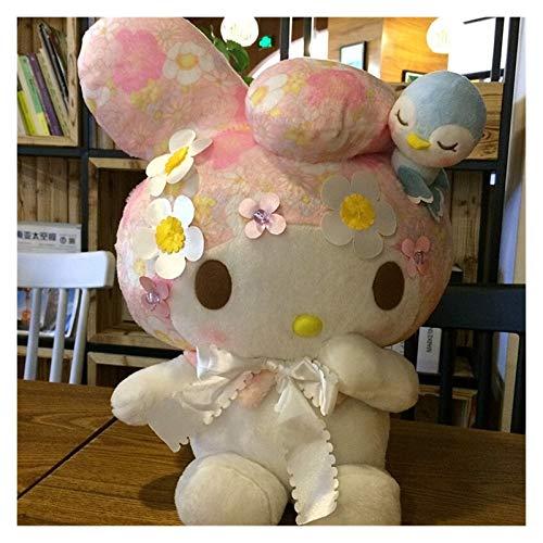 JSJJATQ Peluche Anime Dibujos Animados mi melodía 45 cm Gigante Peluche Juguete muñecas Linda Rosa Almohada muñeca niño y niña Regalo (Color : White, Height : 45cm)
