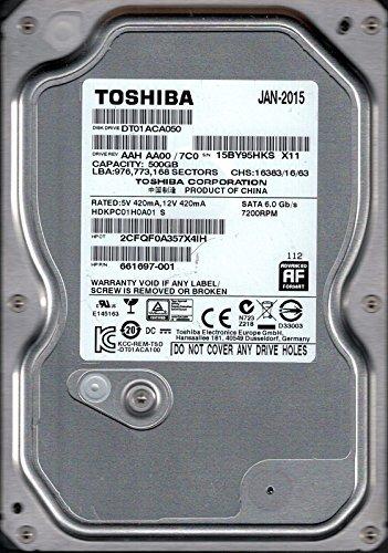 Toshiba dt01aca050AAH AA00/7C0500GB hdkpc01h0a01