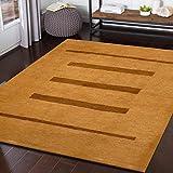 TrendyLiving4U - Alfombra de salón de pelo corto, hecha a mano, 122 x 169 cm, color beige