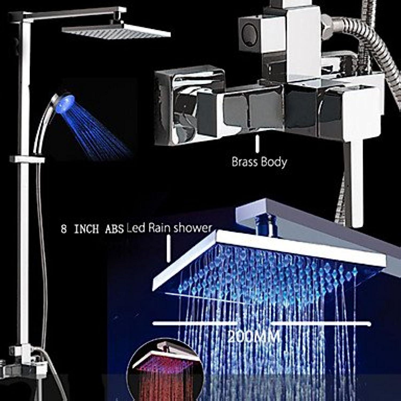 SUNNY KEY-Bidet-Armaturen@Zeitgenssisch Badewanne & Dusche LED   Regendusche   Handdusche inklusive with Keramisches Ventil Einzigen Handgriff Zwei Lcher for