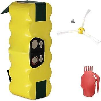 GPISEN 3800mAh Batería de Repuesto con 1 Cepillo Lateral para iRobot Roomba 500 600 700 Series (Type 1): Amazon.es: Hogar
