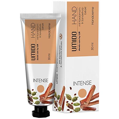 1x UMIDO Hand-Creme 30 ml Kardamom-Extrakt & Sandelholz-Extrakt   ohne Parabene   Creme   Pflegecreme   Handlotion   Hautpflege   Handcreme mini