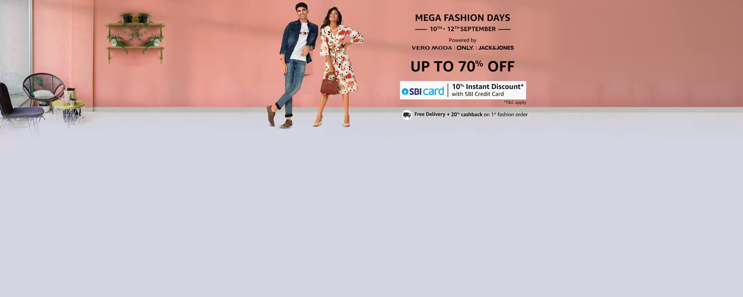 Amazon Offers Today-Coupons-Promo Codes - Up To 70% discount + Extra 10% discount on Fashion