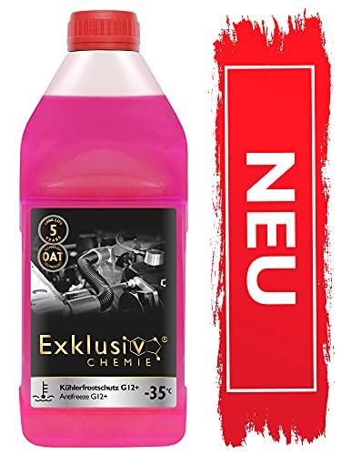 NOWOŚĆ Exklusiv Chemie® G12+ płyn zapobiegający zamarzaniu chłodnicy | G12+ Płyn do chłodnic samochodowych | Gotowy do użycia | 1000ml