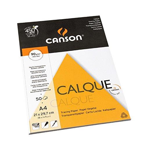 Bloc Enc A4, 50 Hojas, Canson Vegetal Graphic Microfino 90 g