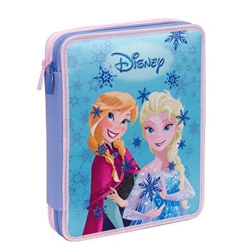 Astuccio Maxi Disney , FROZEN MAGIC LIGHTS , Blu -Con CONTENUTO: matite, pennarelli , maxi frozen magic lights, poliestere