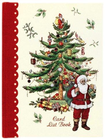 CR. Gibson Spode Christmas Tree Card List Book