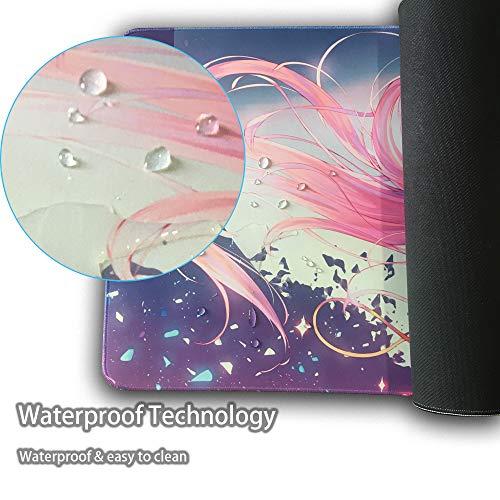 Große Gaming Mysterious Zero Two-5 Mouse Pad 900X400X3mm XXL Anime Mauspad Anti-slip Natürliche Gummi Übergroßen Matte mit Durable Genäht locking Kanten Ideal