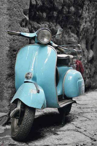 Vespa Vintage Scooter - Italy Roma Roller Moped Italien Poster Plakat Druck - Grösse cm