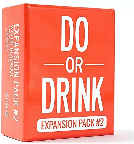 Do or Drink-Board Game - Tarjeta de juego para fiestas en inglés (rojo)