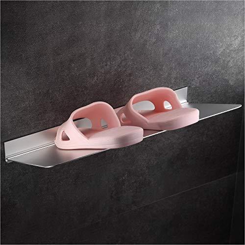 Zapatero adhesivo fuerte Wangel de 40 cm, organizador de almacenamiento de zapatos colgante, pegamento patentado + autoadhesivo, aluminio