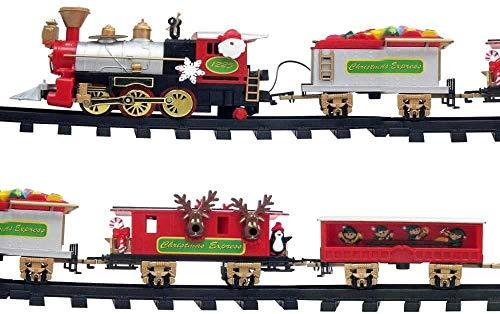 MostroMania Trenino Con Binario Per Albero Di Natale, Addobbi Natalizi Originali, Decorazioni Animate, Idee Regalo Per Bambini