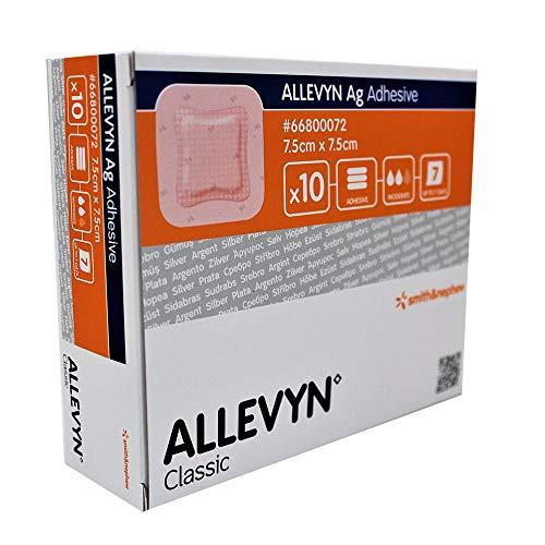 ALLEVYN Ag Adhesive 7,5x7,5 cm Wundverband 10 St Verband