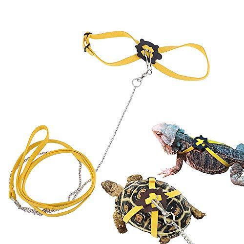 JKGHK Pequeños Animales Pequeños Animales Domésticos Reptiles Arnés Correa Correa Collar Caminar Plomo De Control Cuerda para Tortuga Lagarto,M
