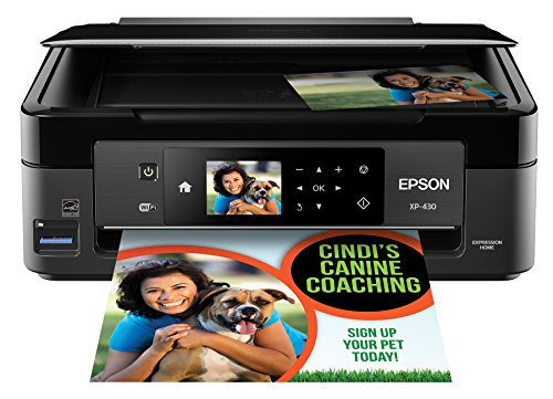 Epson Expression Home XP-430 Wireless Color Photo Printer with Scanner and Copier, Amazon Dash Replenishment Ready