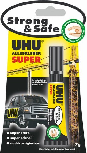 Uhu Alleskleber Super 7g Strong & Safe, Liefermenge = 10