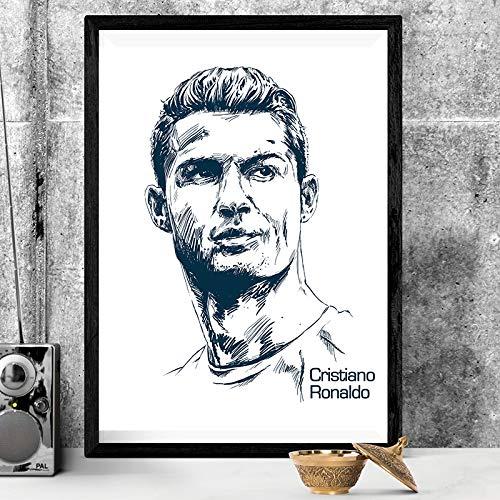 fdgdfgd Cristiano Ronaldo (Cristiano Ronaldo) póster Lienzo fútbol Imagen Arte impresión Moderna decoración Pintura Sala Imagen