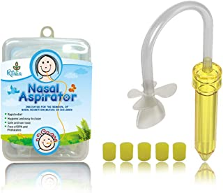Baby Nasal Aspirator. Ritalia snotsucker with 5 Hygiene Filters. Sinus Congestion Relief for Newborns, Infant and Toddler...