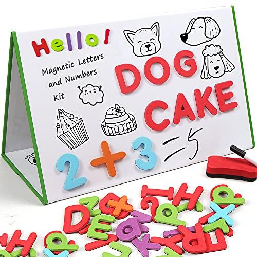 O-Kinee Letras y Nnúmeros Magnéticos para niños, Juego de Letras Magnéticas ABC, Alfabeto de Espuma Juguetes Educativos para Niños, Alfabeto de Letras Magneticas de Nevera