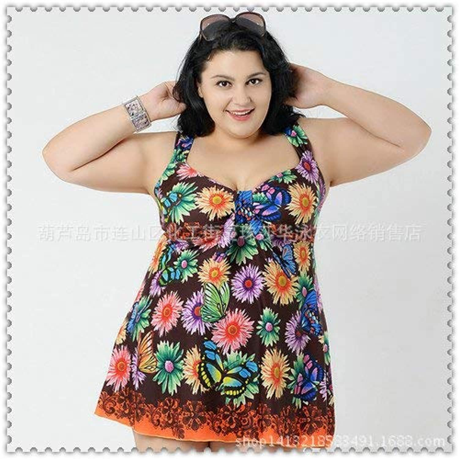 Split Skirt Style Swimsuit Increase Swimsuit 12 colors, orange,5XL (color   As Shown, Size   One Size)