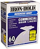 iron-hold business bags commercial drum liners 60 ct 55 gallon