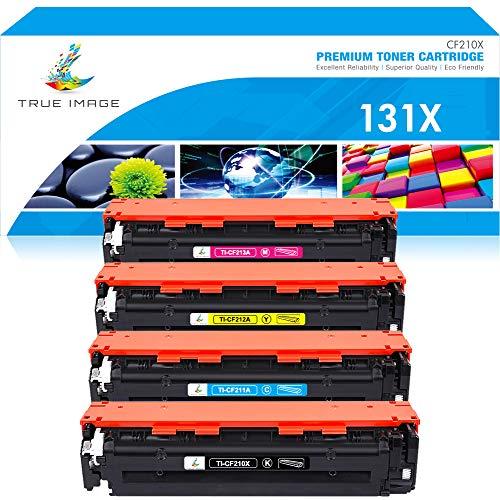 True Image Remanufactured Tonerpatrone Replacement für HP 131X CF210X 131A Toner CF210A CF211A CF212A CF213A für HP Laserjet Pro 200 Color MFP M276n M276nw M276 HP Laserjet Pro 200 M251nw M251n M251