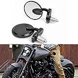 Bonnoeuvre 2 espejos 7/8 22mm retrovisores para motocicleta, espejos circulares convexos para manillar de motocicleta