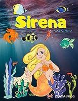 Sirena libro para colorear: - Libro para colorear de la sirena para los niños, página única para colorear, para los niños de 3-6-8 años