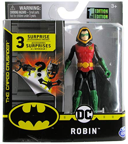 DC Batman 2020 Robin with Hood (Damian Wayne) 4-inch Action Figure by Spin Master