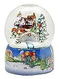 Minium Collection 20067osx - Bola de nieve, diseño nostálgico en trineo (base de porcelana, 150 mm de diámetro, con movimiento de nieve y música, burbuja de aire)