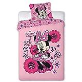 AYMAX S.P.R.L Minnie Disney - Parure de Lit 1 Place - Housse de Couette