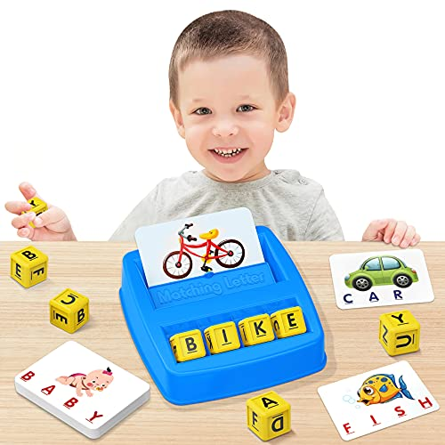 NARRIO Educational Toys for 3 4 5 Year Old Boys Gift, Matching Letter Game Preschool Learning Toys for Kids Ages 4-8 Years, Christmas Birthday Gifts for 3-6 Year Old Boys Toddler Toys Age 2-4