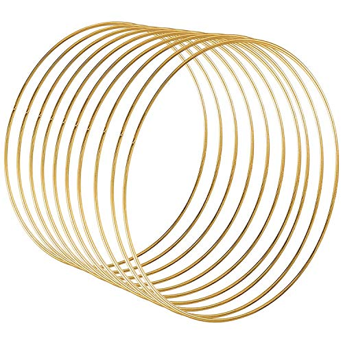 Adanse 10 pieces 30 cm large metal garland garland tassel gold craft DIY wedding wreath decoration, dream hunting and wall hanging crafts