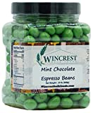 Chocolate Espresso Beans - 1.5 Lb Tub (Green Mint Chocolate)
