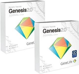遺伝子検査 GeneLife Genesis2.0(ジーンライフ ジェネシス)2個セット 解析項目数 約360項目