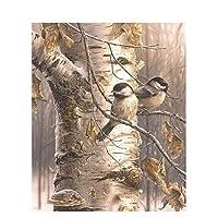 LovetheFamily 数字油絵 数字キット塗り絵 手塗り DIY絵 デジタル油絵 冬の大きな木や小さな鳥 40x50cm ホーム オフィス装飾