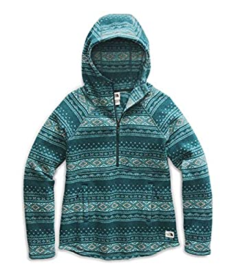 The North Face Women's Printed Crescent Hooded Pullover, Ponderosa Green Fair Isle Print2, XL