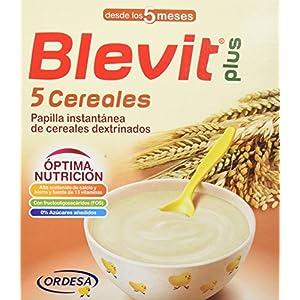 Blevit Plus 5 Cereales para bebé - 4 de 300 gr. (Total 1200 gr.): Amazon.es: Alimentación y bebidas