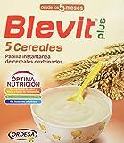 Blevit Plus 5 Cereales - Paquete de 2 x 300 gr - Total: 600 gr