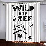 HHJJ Cortinas opacas para niños, cortinas opacas con ojales para dormitorio, cortina ligera, 2 piezas (tamaño: 336 x 229 cm)