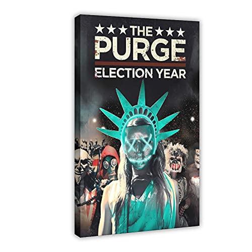 """Poster su tela con scritta """"The Purge"""", per soggiorno, camera da letto, 40 x 60 cm"""