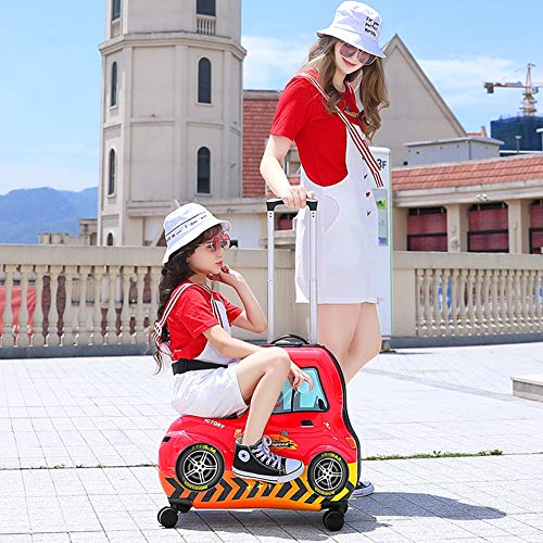 AAGYJ Children's LuggageChildren's Ride-On Suitcase, Kids Luggage Set, Fashion Travel Suitcase, Student Trolley Boarding Suitcase, Universal Wheel Toy Box