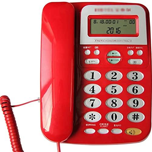 YUTRD Teléfono-Teléfono, Oficina En Casa Teléfono Fijo Fijo, Identificador De Llamadas, Batería Sin Cable Escritorio Teléfono con Altavoz