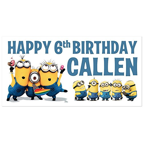 Despicable Me Minions Birthday Banner Personalized Party Decoration Backdrop