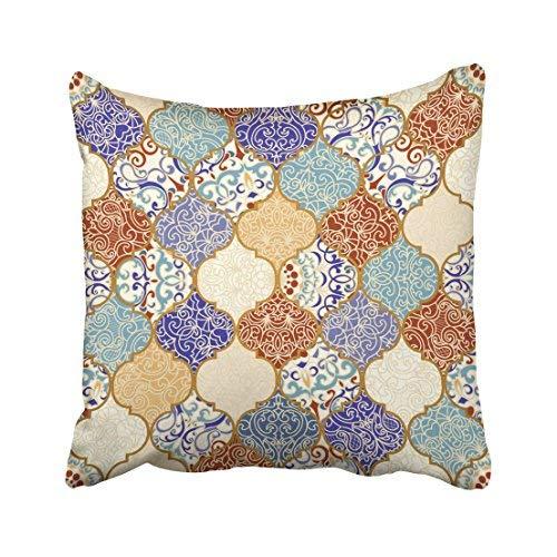 ZGNNN-EU - Funda de cojín Decorativa de Lona turca Vintage con diseño de retales de cerámica, 45,7 x 45,7 cm, para el hogar y Regalos