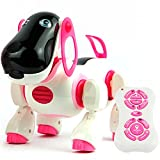Domenico Children Smart Storytelling Robot Dog, Sing Dance Walking Talking Dialogue Cute Pet Toy with Infrared Remote Control - Pink